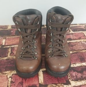 Timberland Brown Leather Hiking Boots Size EUR 42